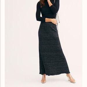 Anthropologie Bordeaux Sweater Maxi Skirt
